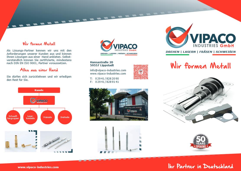 Vorschau VIPACO Industries GmbH Faltblatt 2019